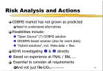 risk analysis and actions