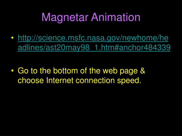 Magnetar Animation