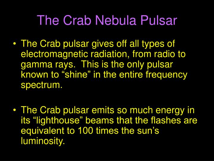 The Crab Nebula Pulsar