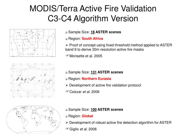 MODIS/Terra Active Fire Validation