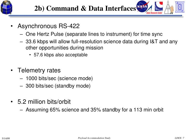 2b) Command & Data Interfaces
