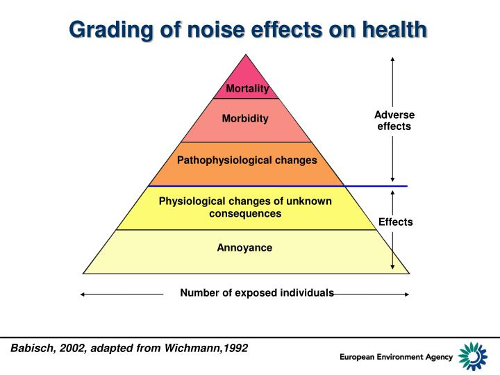 Grading of noise effects on health