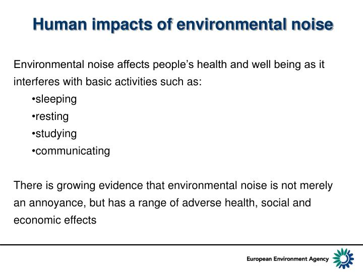 Human impacts of environmental noise