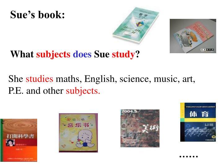 Sue's book: