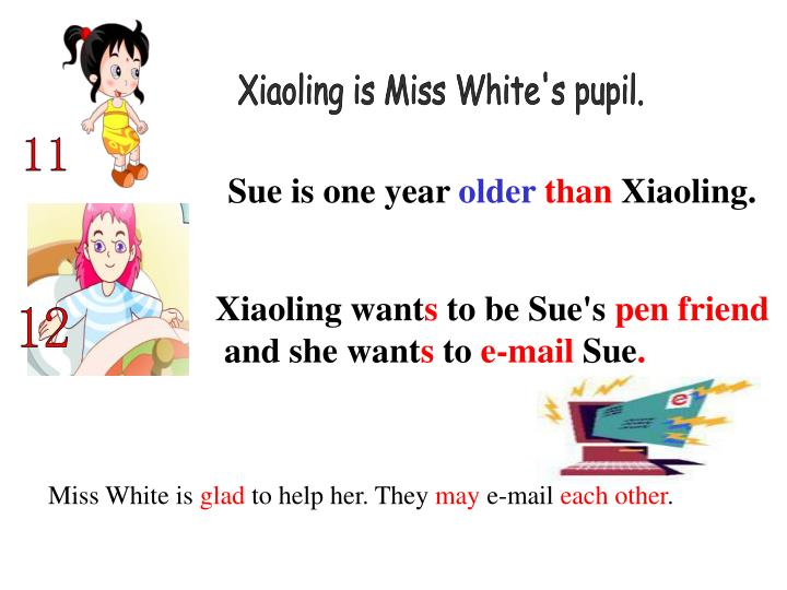 Xiaoling is Miss White's pupil.