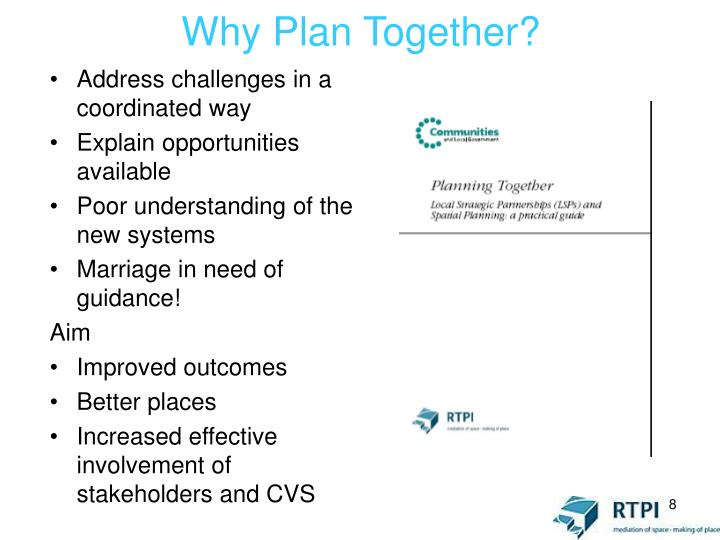 Why Plan Together?