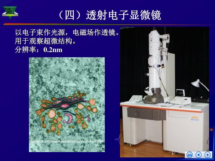 (四)透射电子显微镜