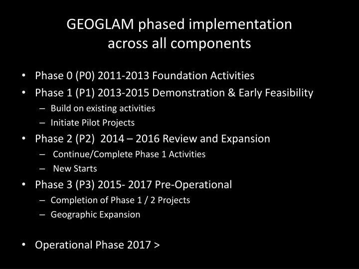 GEOGLAM phased implementation