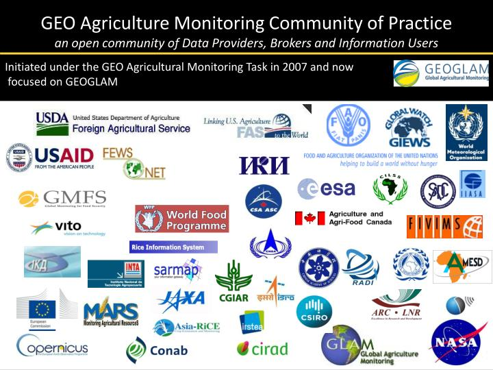 GEO Agriculture Monitoring Community of Practice