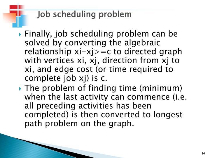 Job scheduling problem