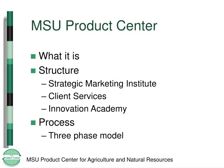 MSU Product Center