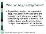 who can be an entrepreneur