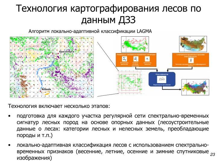 Технология картографирования лесов по данным ДЗЗ