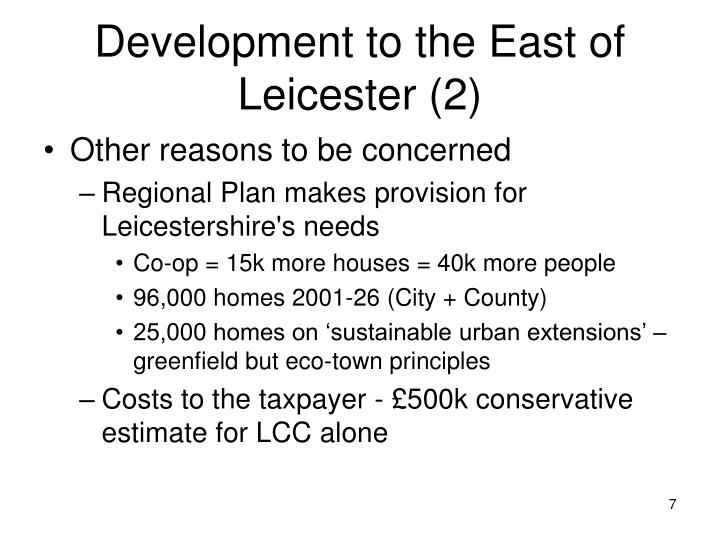 Development to the East of Leicester (2)