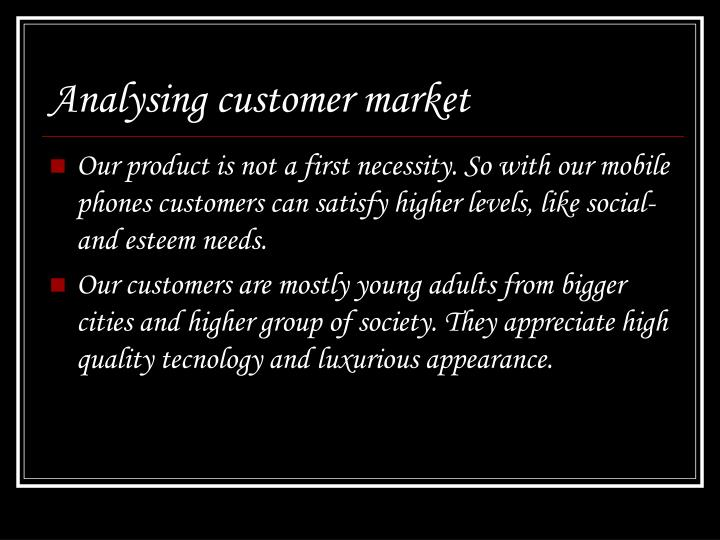 Analysing customer market