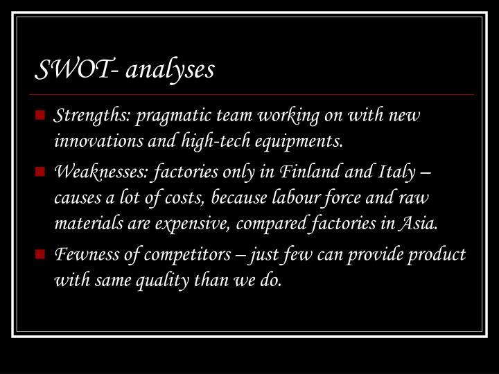 SWOT- analyses