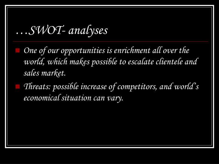 …SWOT- analyses