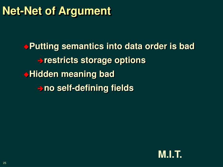 Net-Net of Argument