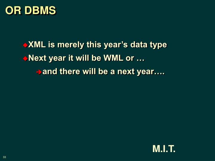 OR DBMS