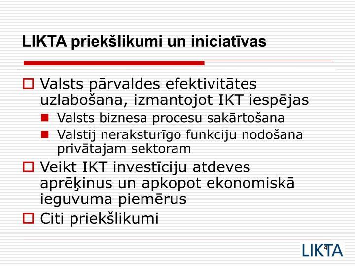 Valsts pārvaldes efektivitātes uzlabošana, izmantojot IKT iespējas