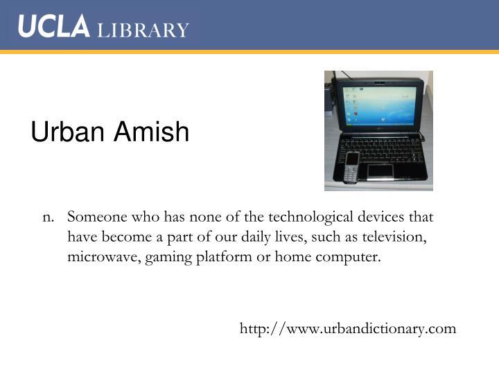 Urban Amish