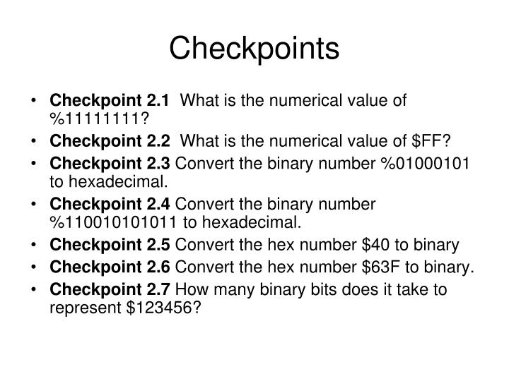 Checkpoints