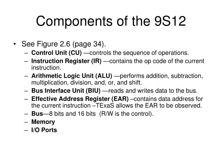 Components of the 9S12