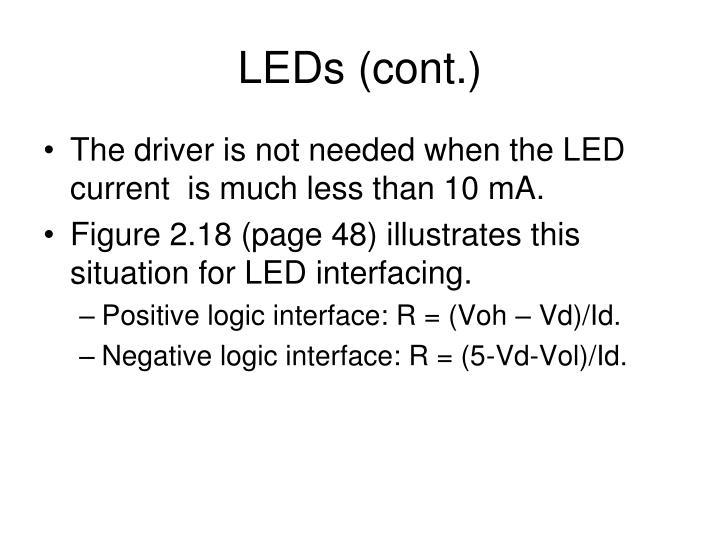 LEDs (cont.)