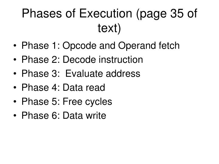 Phases of Execution (page 35 of text)
