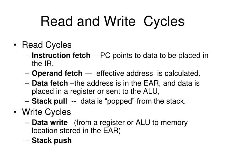 Read and Write  Cycles