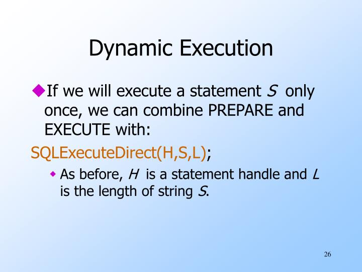 Dynamic Execution