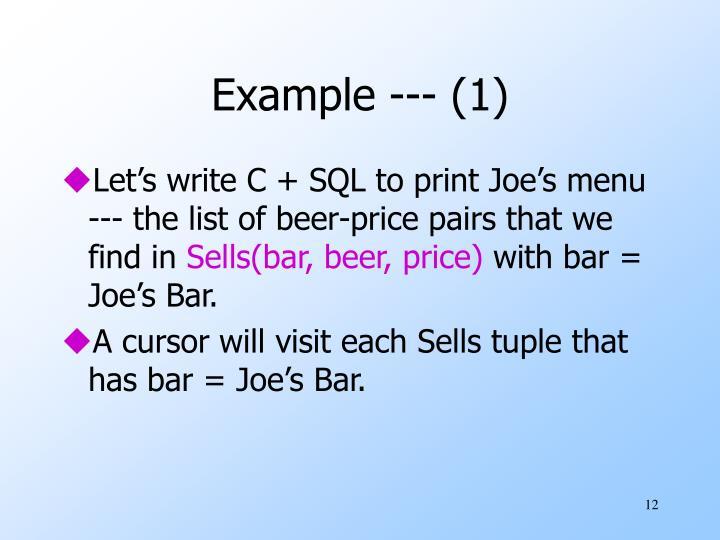 Example --- (1)
