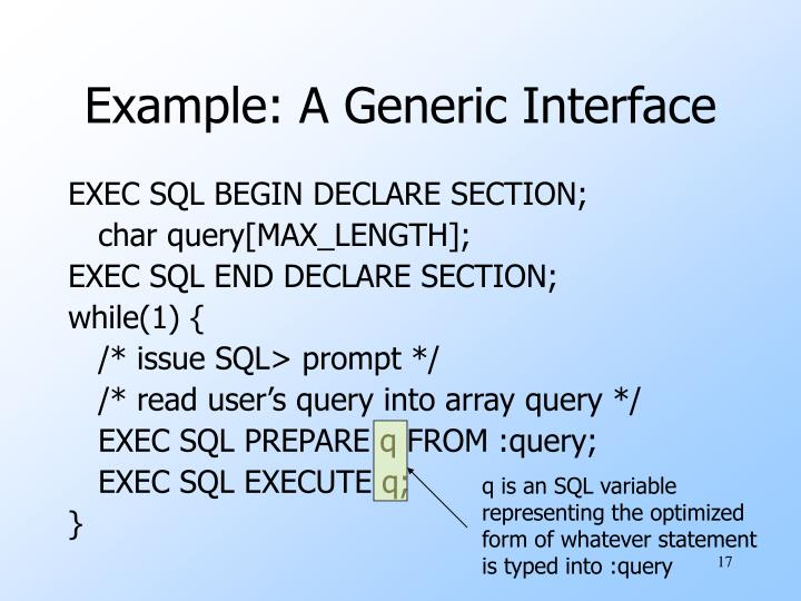 q is an SQL variable