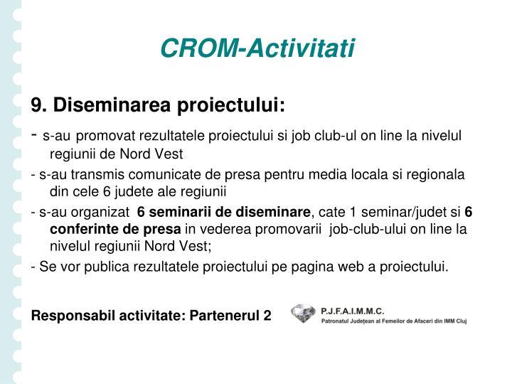 CROM-Activitati