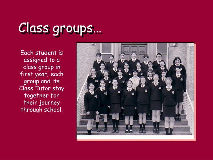 Class groups…