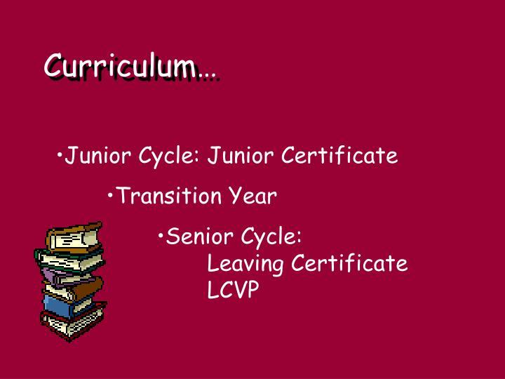 Curriculum…