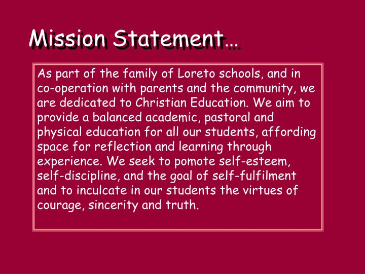 Mission Statement…