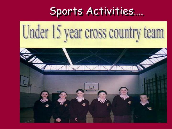 Sports Activities….