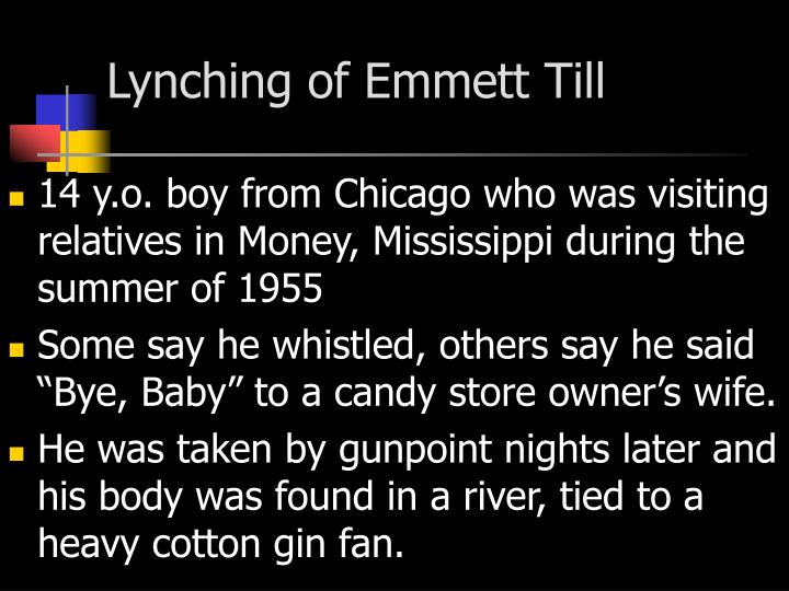 Lynching of Emmett Till