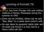 lynching of emmett till