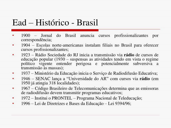 Ead – Histórico - Brasil
