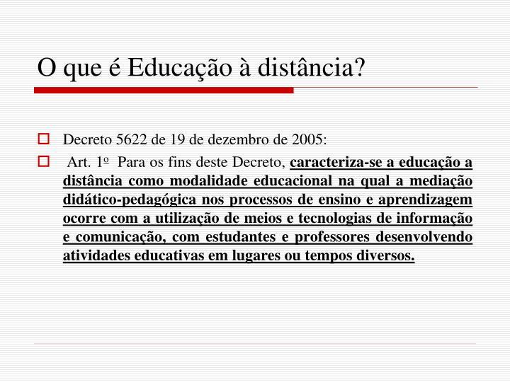 O que é Educação à distância