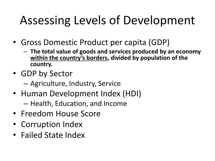 Assessing Levels of Development