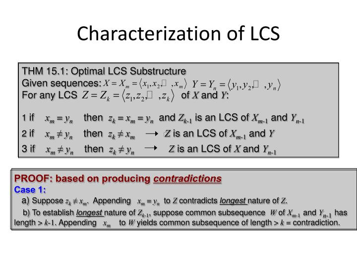 Characterization of LCS