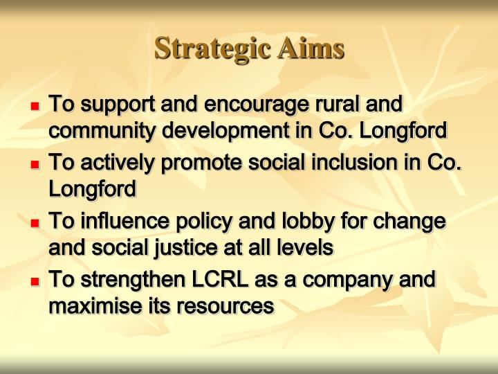 Strategic Aims