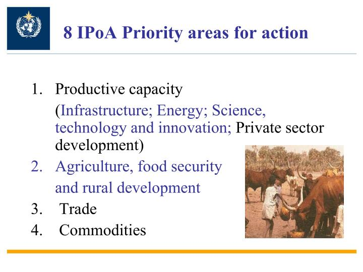 8 IPoA Priority areas for action