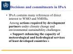 decisions and commitments in ipoa