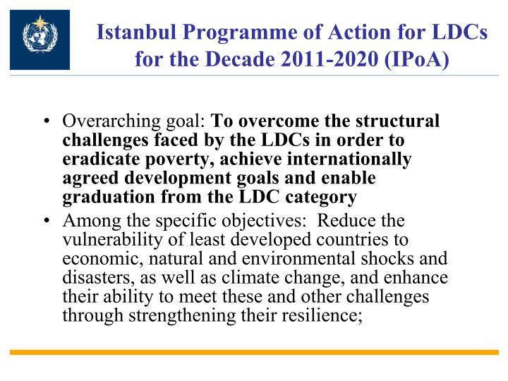 Istanbul Programme of Action for LDCs for the Decade 2011-2020 (IPoA)