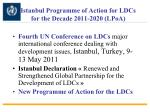 istanbul programme of action for ldcs for the decade 2011 2020 lpoa