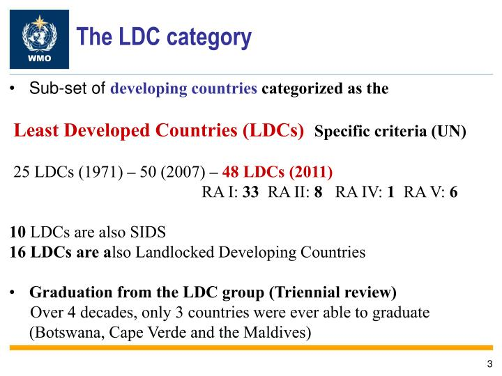 The LDC category